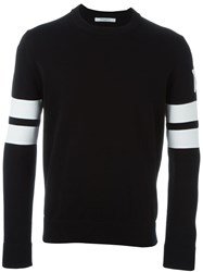 Givenchy Striped Sleeve Sweater Black