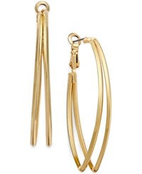 Inc International Concepts Gold Tone Pointed Double Hoop Earrings Only At Macy's