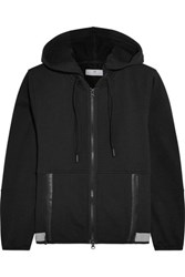 Adidas By Stella Mccartney Jersey Hooded Sweatshirt Black