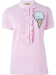 Peter Jensen Ice Cream Polo Shirt Pink And Purple
