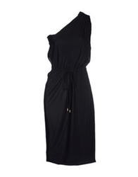 Frankie Morello Knee Length Dresses Black