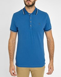 Diesel Blue T Oin Trim Short Sleeve Slim Fit Polo Shirt