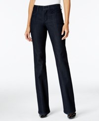 Nydj Embroidered Barbara Dark Enzime Wash Bootcut Jeans Dark Enzyme