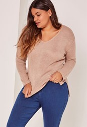 Missguided Plus Size Dusky Pink Knitted Jumper