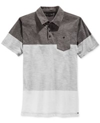 Ocean Current Men's Dusty Colorblocked Pocket Polo Charcoal Heather