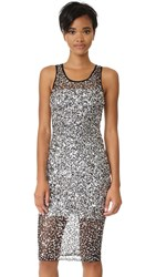 Parker Black Kat Dress Silver