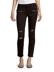 Vigoss Distressed Skinny Fit Cropped Pants Black