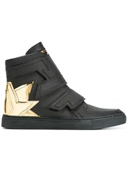 Alberto Premi Metallic Heel Counter Hi Top Sneakers Black