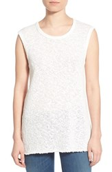 James Perse Women's 'Web Jersey' Cotton Shell Cricket White