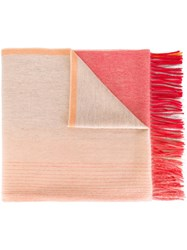 Paul Smith Ps By Fringed Scarf Pink Purple