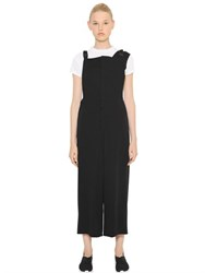Y 3 Woven Lyocell Overalls With Suspenders