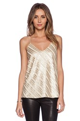 Blaque Label Sequin Tank Metallic Gold