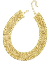 Thalia Sodi Gold Tone Wide Collar Necklace Only At Macy's