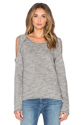 Nation Ltd. Clara Cold Shoulder Sweatshirt Gray