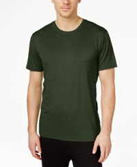 32 Degrees By Weatherproof Crew Neck T Shirt Olive Night Heather