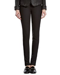 Gucci Black Stretch Pants With Leather Detail