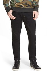 Men's Prps 'Fury' Slouchy Slim Fit Selvedge Jeans Black Raw Selvedge