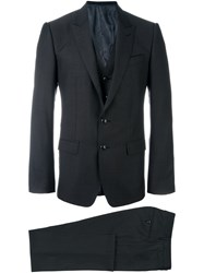 Dolce And Gabbana Three Piece Suit Grey