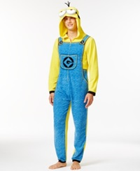 Briefly Stated Despicable Me Minion Hooded One Piece Pajama Suit