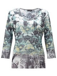 Gerry Weber Mesh T Shirt Grey Green