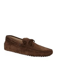 Tod's Gommino Suede Laced Driving Shoe Male
