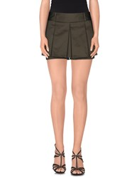 Le Ragazze Di St. Barth Skirts Mini Skirts Women Dark Green