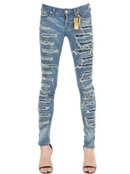 Robin's Jean Skinny Destroyed Washed Denim Jeans