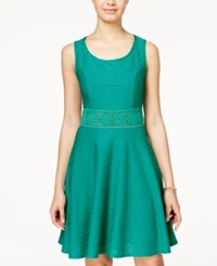 American Rag Crochet A Line Dress Only At Macy's Lapis