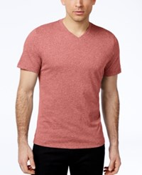 Alfani Big And Tall Stretch V Neck T Shirt Deepsea Coral