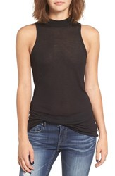 Obey Women's 'Westling' Rib Knit Mock Neck Tank