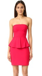 Elizabeth And James Laurel Strapless Dress Cardinal