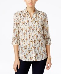 Styleandco. Style Co. Floral Print Button Front Shirt Only At Macy's Floral Whimsey
