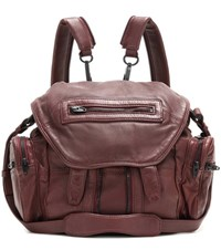 Alexander Wang Marti Mini Leather Backpack Red
