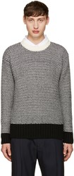 Ami Alexandre Mattiussi Black And White Wool Sweater