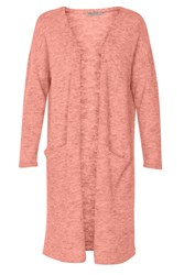 Soaked In Luxury Wool Mix Long Cardigan Pink