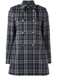 Aspesi Plaid Peacoat Grey