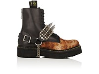 R 13 R13 Women's Studded Leather Harness Boot Straps Black