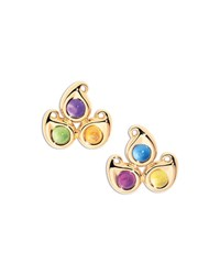 Paisley Three Stone Stud Earrings Yellow Tamara Comolli
