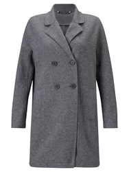 Jigsaw Raw Edge Jersey Coat Grey Melange
