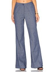 Lucy Paris Flared Pants Blue