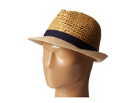Steve Madden Two Weave Banded Fedora Navy Fedora Hats