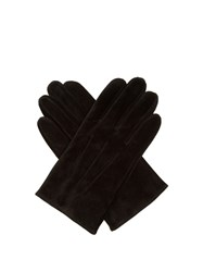 Dents Truro Suede Gloves Black
