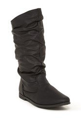 Charles Albert Basey Slouch Boot Black