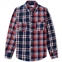 Fdmtl Indigo Check Shirt Red