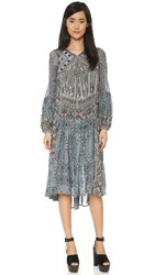 Free People Pink City Dress Turquoise Combo