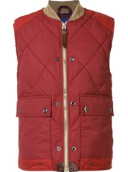 Junya Watanabe Comme Des Garcons Man Quilted Sleeveless Jacket Red