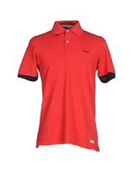 Lee Cooper Topwear Polo Shirts Men Red