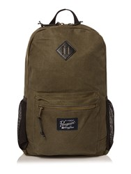 Original Penguin Waxed Canvas Backpack Olive