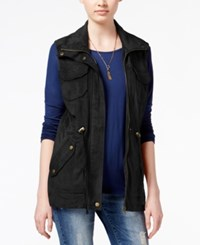 American Rag Faux Suede Cargo Vest Only At Macy's Black