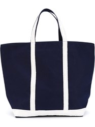 Vanessa Bruno Contrast Handle Shopping Tote Blue